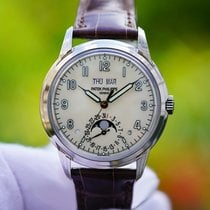 Patek Philippe White gold Automatic Silver (solid) Arabic numerals 40mm new Perpetual Calendar