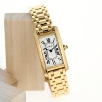 Cartier Tank Américaine Yellow gold 19mm White Roman numerals Singapore