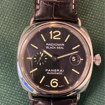 Panerai Radiomir Black Seal Acero 45mm Negro Arábigos