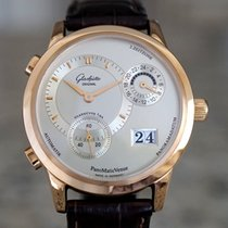 Glashütte Original PanoMaticVenue pre-owned Silver Leather