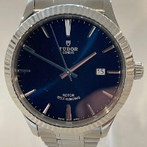 Tudor Style Steel 41mm Blue No numerals