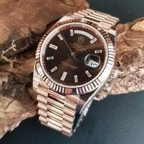 Rolex Day-Date 40 Rosa guld 40mm Brun
