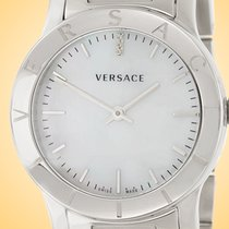Versace Steel Quartz White 33mm new