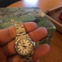 Rolex Oyster Perpetual Lady Date Acier 34mm Argent Sans chiffres France, Lyon
