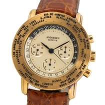 Andersen Genève Yellow gold 39mm Manual winding pre-owned
