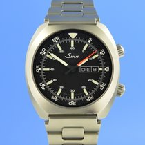 Sinn 240 pre-owned 43mm Black Date Weekday Steel