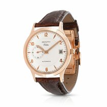 Zenith Rose gold Automatic Silver 37mm pre-owned Elite