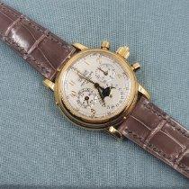 Patek Philippe Perpetual Calendar Chronograph Gelbgold Silber Schweiz, Zurich