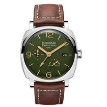 Panerai Radiomir GMT Steel 45mm Green Arabic numerals