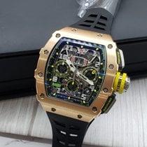 Richard Mille RM 011 Pозовое золото 49.94mm Прозрачный