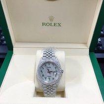 Rolex Datejust II Acier 41mm Argent Romains