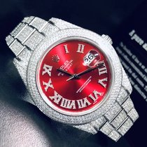 Rolex Datejust II Steel 41mm Red Roman numerals