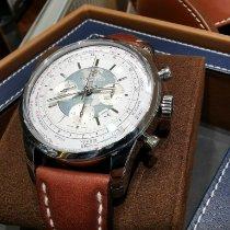 Breitling Transocean Chronograph Unitime Acero 46mm Plata Sin cifras