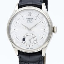 Rolex Cellini Dual Time Or blanc 40mm