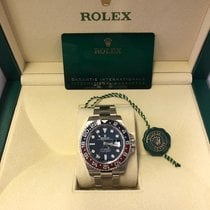 Rolex GMT-Master II Белое золото 40mm Синий Без цифр
