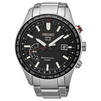 Seiko Sportura Steel 45.2mm Black United States of America, Florida, Sarasota