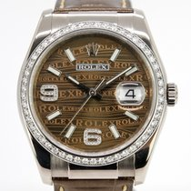 Rolex Белое золото Автоподзавод Бронзовый Без цифр 36mm подержанные Datejust