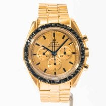 Omega Yellow gold Manual winding Champagne pre-owned Speedmaster