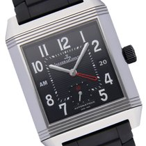 Jaeger-LeCoultre Reverso Squadra Hometime pre-owned 35mm Black Silicon