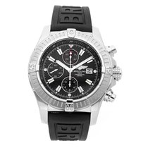 Breitling Super Avenger Steel 48mm Black No numerals United States of America, New Jersey, Edgewater