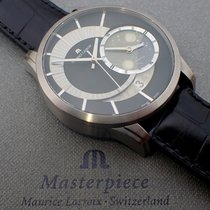 Maurice Lacroix Pontos Décentrique GMT Titan 45mm Schwarz Keine Ziffern Deutschland, Meißen