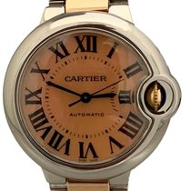 Cartier Ballon Bleu 33mm pre-owned 33mm Mother of pearl Gold/Steel