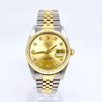 Rolex 16233 Zlato/Ocel 1994 Datejust 36mm použité