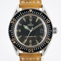 Omega Steel Automatic Black Arabic numerals 40.2mm pre-owned Seamaster 300