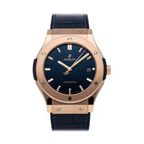 Hublot Classic Fusion Blue pre-owned 45mm Blue Date Fold clasp