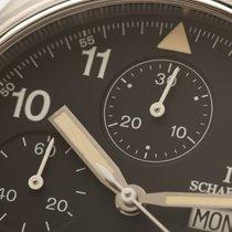 IWC Fliegeruhr Doppelchronograph Stahl 42mm Schwarz Arabisch