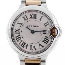 Cartier Ballon Bleu 28mm Сталь 28mm Белый Римские