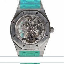 Audemars Piguet Royal Oak Tourbillon Stal 41mm Przezroczysty Bez cyfr