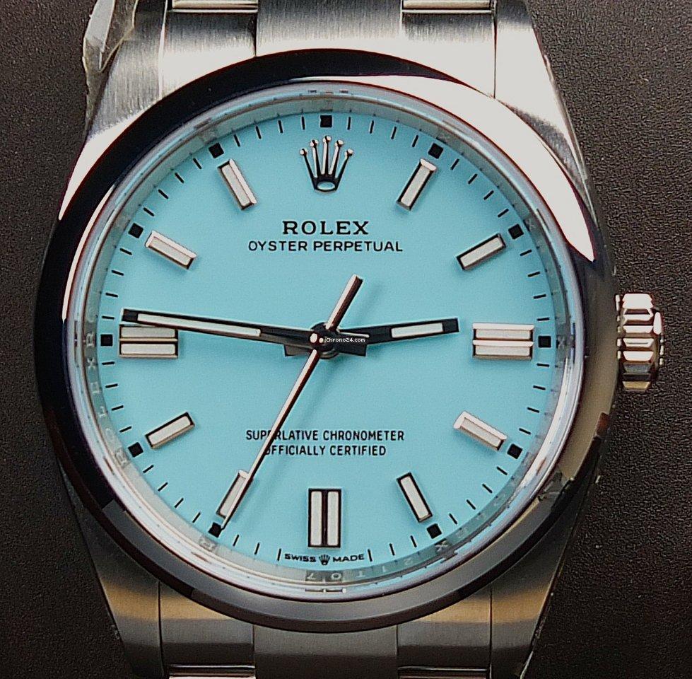Rolex Oyster Perpetual 36 126000 Oyster  Tiffany Dial NEU 2021 neu