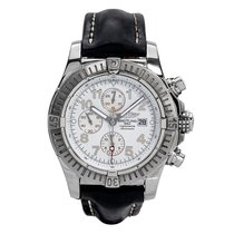 Breitling Super Avenger pre-owned White Date Leather