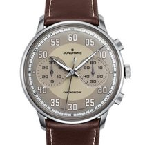 Junghans Meister Driver Steel 40.8mm Champagne Arabic numerals