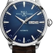 Ball Silver Automatic Blue No numerals 39.5mm new Trainmaster Eternity