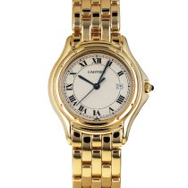 Cartier Cougar Yellow gold 33mm White Roman numerals United States of America, Maryland, Baltimore, MD