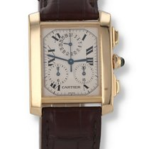 Cartier Tank Française Yellow gold 28mm Silver Roman numerals United States of America, New Hampshire, Nashua