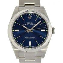 Rolex Oyster Perpetual 39 Stahl 39mm Blau Keine Ziffern Schweiz, Lugano