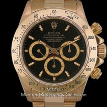 Rolex Or jaune Remontage automatique Noir 40mm Daytona