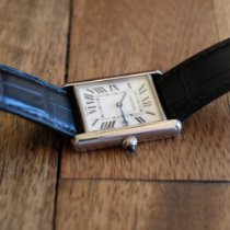 Cartier Tank Louis Cartier pre-owned 34mm White Date Leather