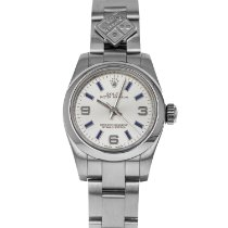 Rolex Oyster Perpetual 26 Steel 26mm Silver Arabic numerals