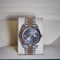 Rolex Rose gold Automatic Grey No numerals 41mm new Datejust II