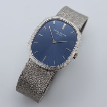 Patek Philippe White gold Manual winding Blue No numerals 27mm pre-owned Golden Ellipse