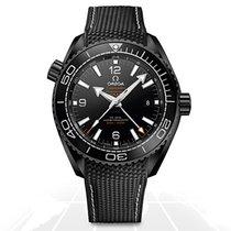 Omega Seamaster Planet Ocean nuevo Automático Reloj con estuche y documentos originales GMT 21592462201001