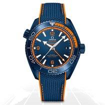 Omega Seamaster Planet Ocean nuevo Automático Reloj con estuche y documentos originales GMT 21592462203001