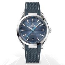 Omega Acier Remontage automatique Bleu Sans chiffres 41mm nouveau Seamaster Aqua Terra