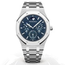 Audemars Piguet Титан Автоподзавод Синий Без цифр 41mm новые Royal Oak Perpetual Calendar