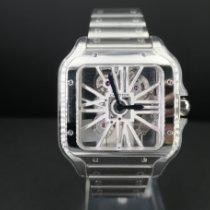 Cartier neu Handaufzug Stahl Saphirglas