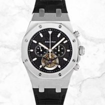 Audemars Piguet Royal Oak Tourbillon neu 2020 Handaufzug Chronograph Uhr mit Original-Box und Original-Papieren 25977st.oo.d002cr.01